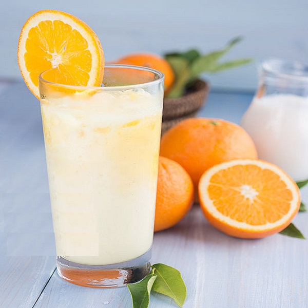 Milk and Orange Juice