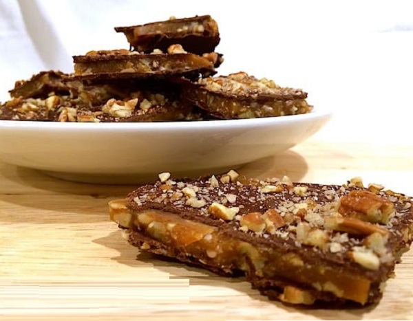 Bourbon Pecan Toffee Bark