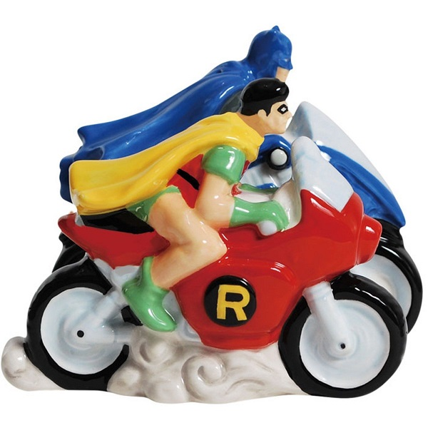 DC Comics Superheroes Batman and Robin Salt Pepper Shakers
