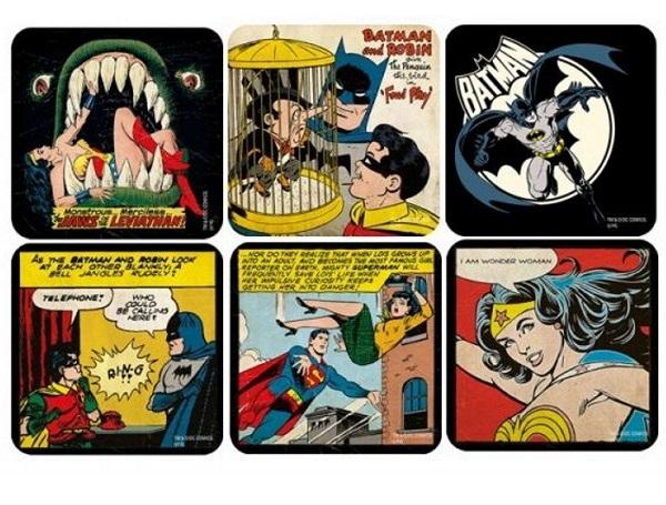 DC Comics 6pc Superhero Coaster Set