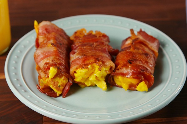 Bacon, Egg and Cheese Roll-Ups