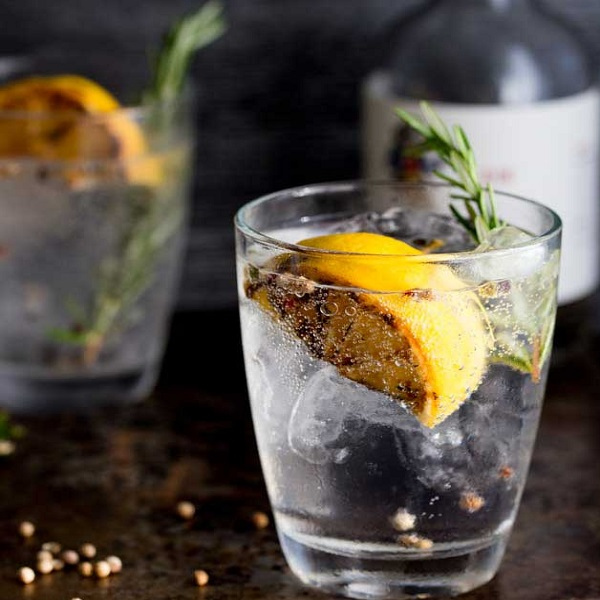 Charred Lemon, Rosemary and Coriander Gin and Tonic