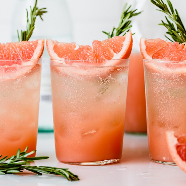 Honey Rosemary Grapefruit Sodas