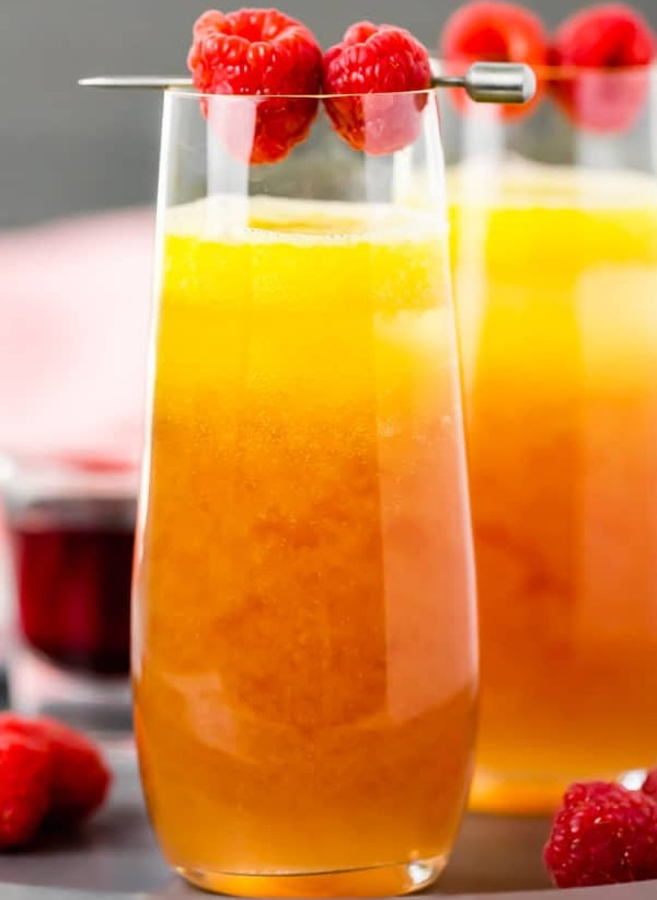Mango & Raspberry Mimosas