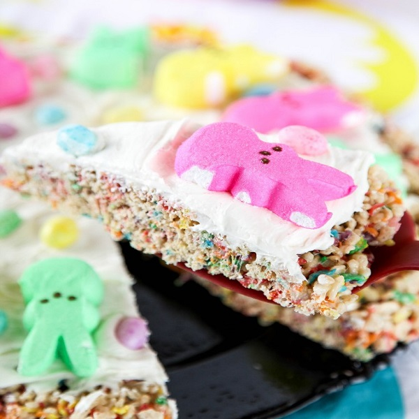 Marshmallow Peeps Pizza