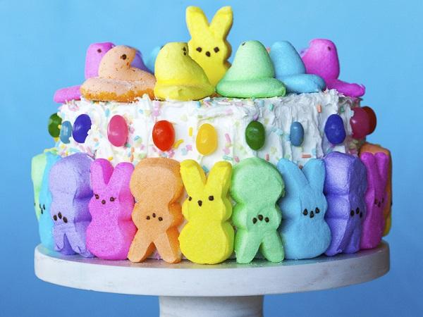 Marshmallow Peeps Easter Cake