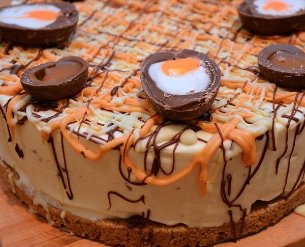 Cadbury's Creme Egg Cheesecake