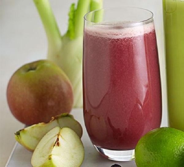 Fennel, Blueberry & Apple Juice