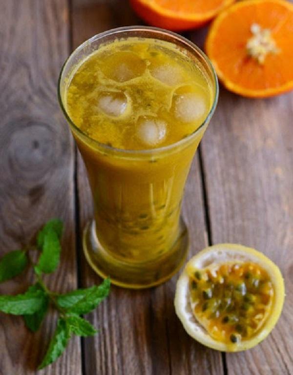 Orange Mint Passion Fruit Juice