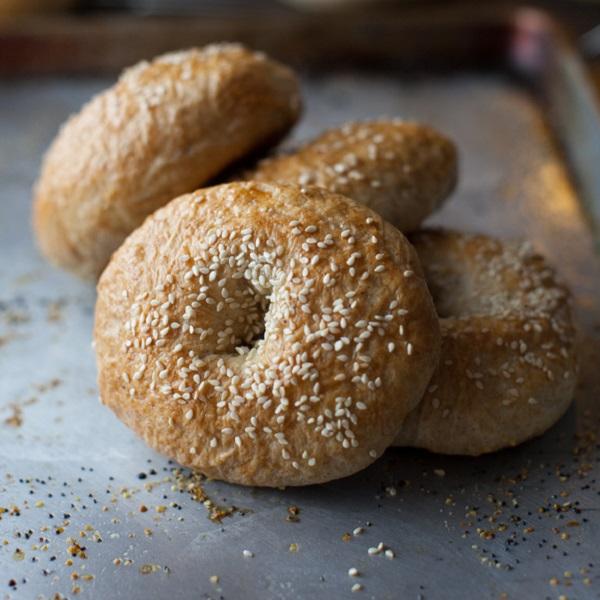 Honey Whole-Wheat Bagels