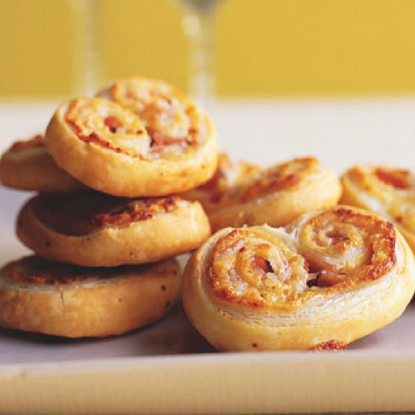 Ham, Gruyere and Dijon Palmiers
