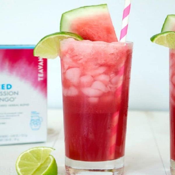 Shaken Watermelon and Passion Tea