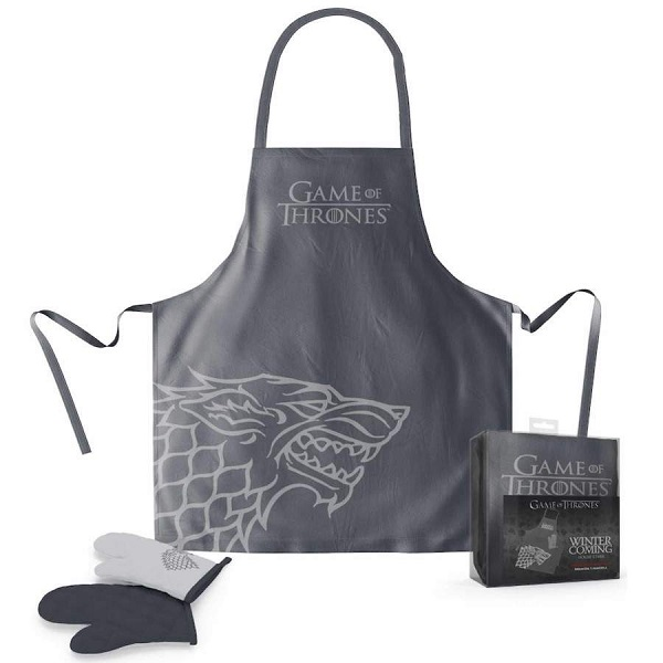 Game of Thrones Stark Apron and Oven Mitt Set