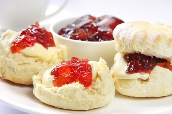 Devon Scones with Cream and Jam