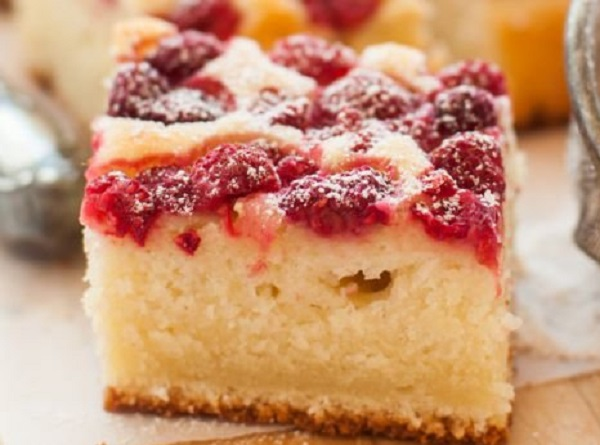 Belarusian Cake with Raspberries
