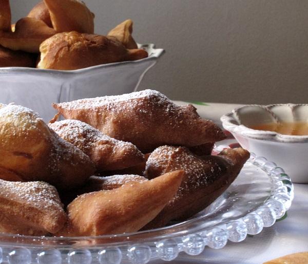 Traditional Bulgarian Buhti (Doughnuts)