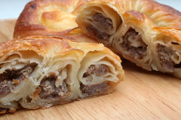 Croatian Burek (Meat pie)