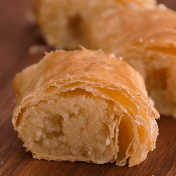 Traditional Dutch Banketstaaf (Almond Puff Pastry)
