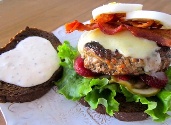 Traditional Estonian Burger