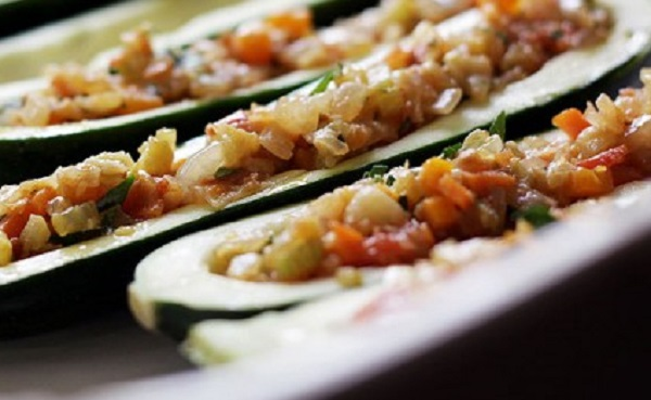 Traditional Moldovan Vegetable & Feta Stuffed Zucchini