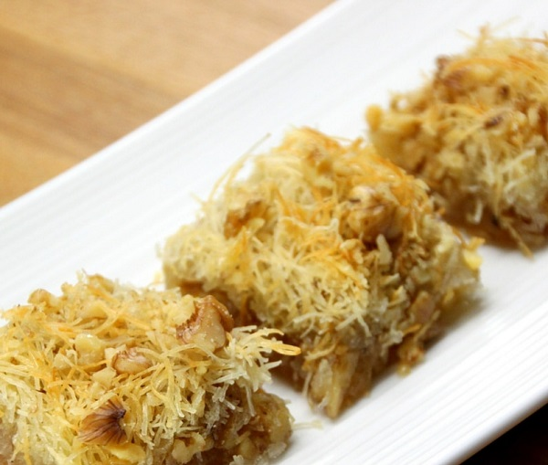 Traditional Albanian Kadayif (Finely Shredded Filo)