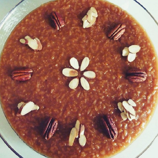 Traditional Armenian Spiced Grape & Molasses Rice Pudding