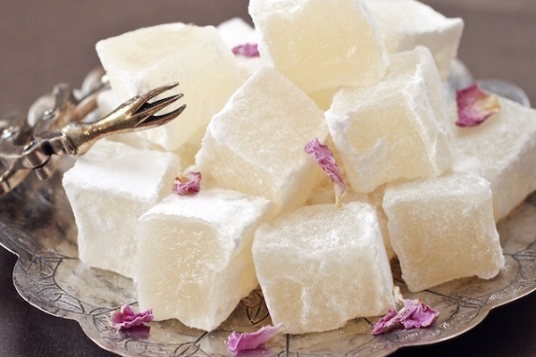 Traditional Cypriot Rahat Loukoum (Turkish Delight)