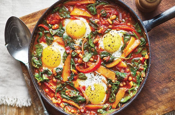 Baked Eggs and Beans Meal