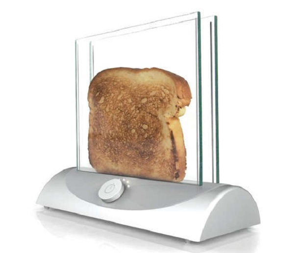 Inventables-corporate Transparent Glass Single-Slice Toaster