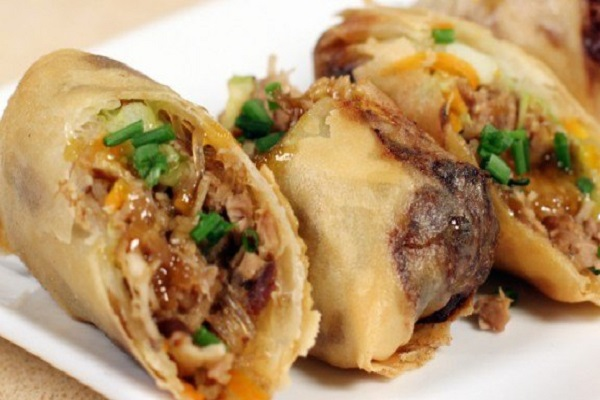 Boudro's Roasted Duck Spring Rolls