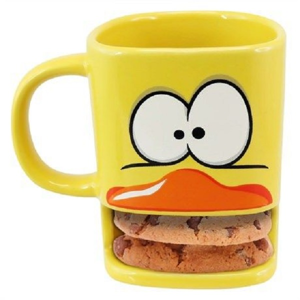 Duck Shaped Coffee Mug With Biscuit Shelf by hometechstar