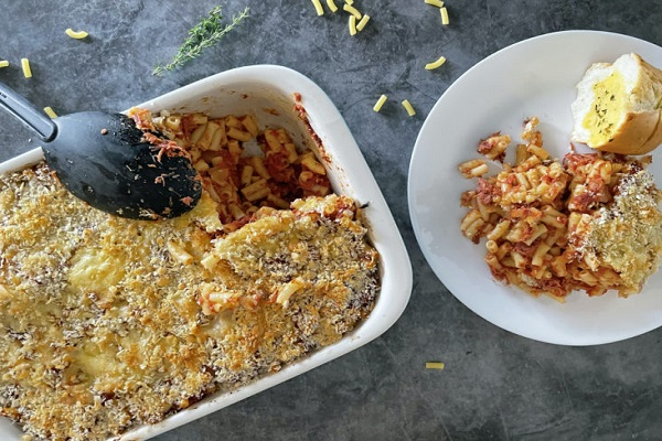 Macaroni and Rougaille Corned Beef