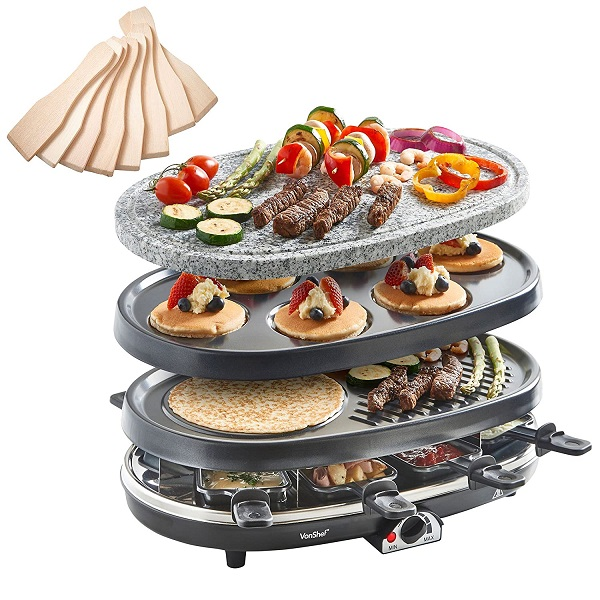 Vonshef 8 Person 3 in 1 Raclette
