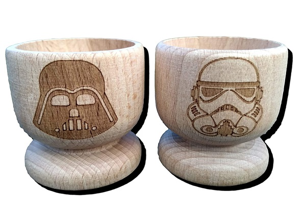 Star-Wars Darth Vader and Stormtrooper FastCraft Egg Cup Set