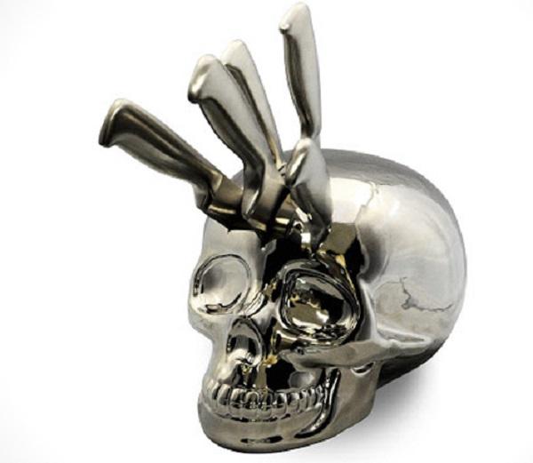 Skull Knife Block by 365
