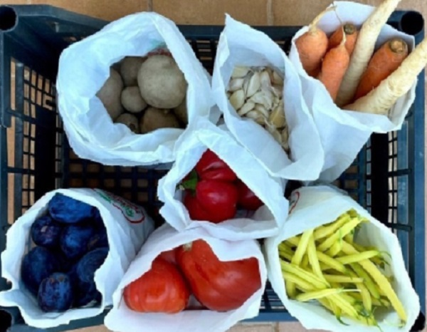 Unwashed Fresh Veggies And Fruits