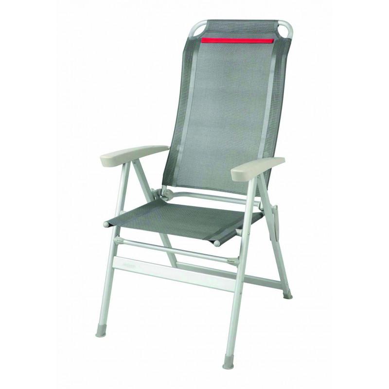 fauteuil acapulco gris liseret cerise