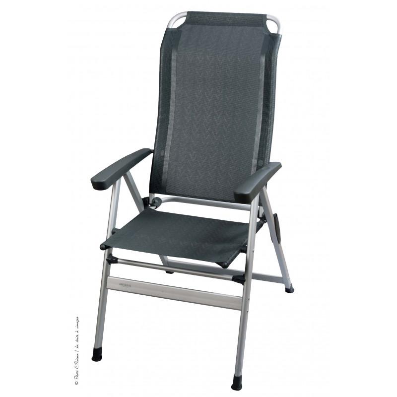 fauteuil acapulco gris liseret chevron