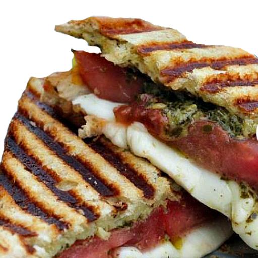 Carprese tomato spinach panini