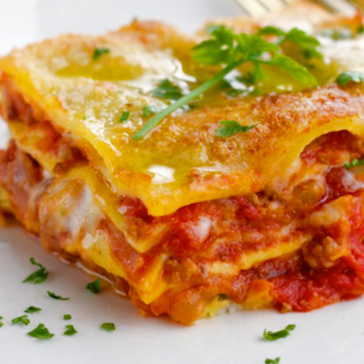 Children's Baked Lasagna & Meat Sauce