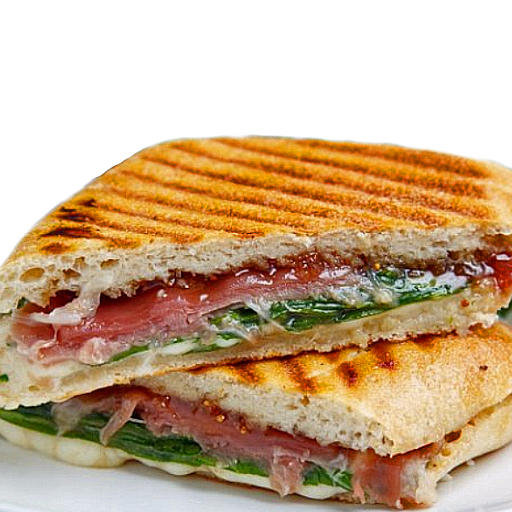 Parma panini prosciutto and spinach