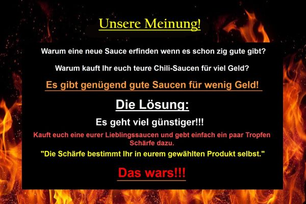 Chilisauce Unsere Meinung