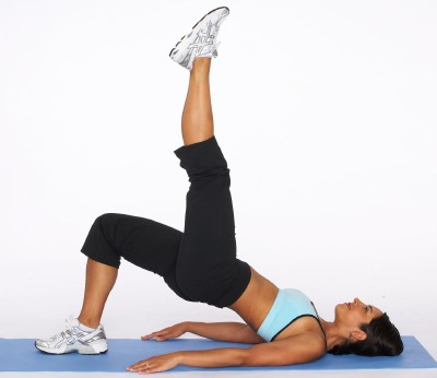 Image result for The Bridge Up, with leg lifts exercise