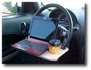 5. Laptop steering wheel desk