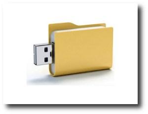 6. Memoria USB carpeta