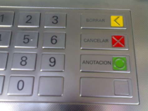 Botones de cajero automático