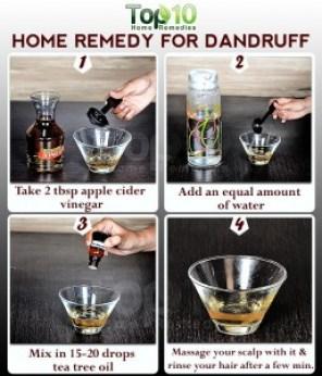 apple cider vinegar dandruff remedy