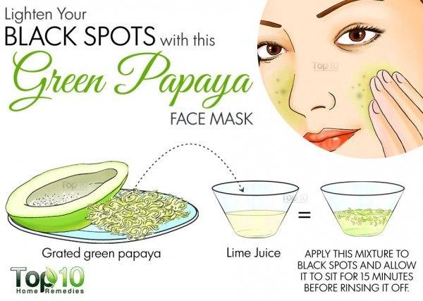 green papaya for black spots