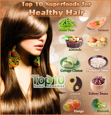 Top 10 Superfoods For Healthy Hair Top 10 Home Remedies