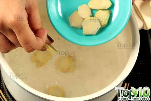 DIY ginger tea step4